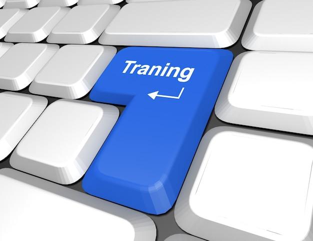 컴퓨터 키보드에 대한 단어 훈련