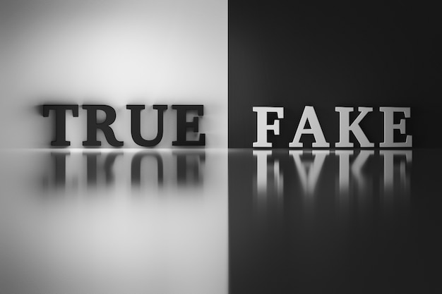 Words - true and fake