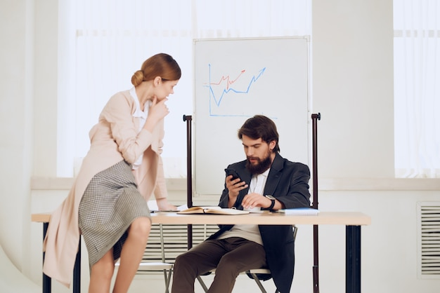 Work colleagues communication emotions conflict in the office