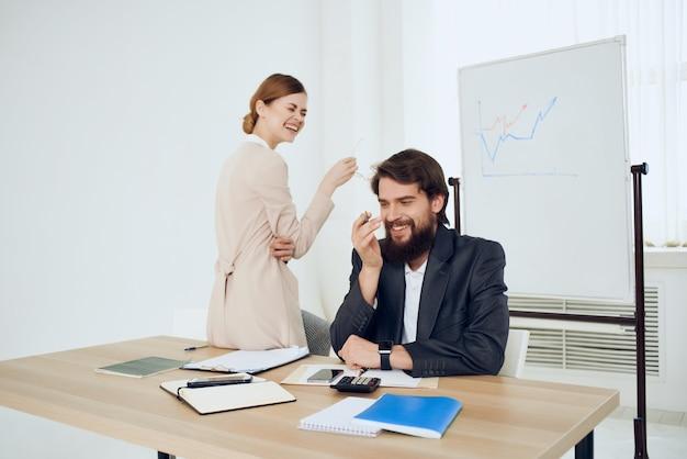 Work colleagues office professionals work studio