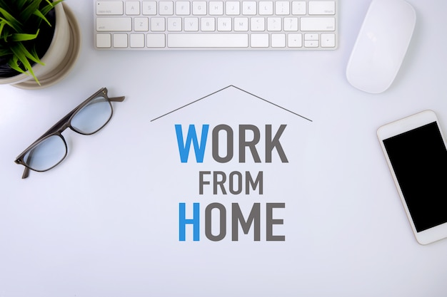 Work from home concept, protection pandemic of covid-19 with quarantine and work at home.