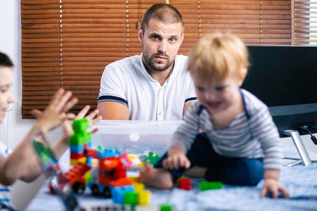 Work from home with young children