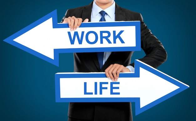 Work and life concept