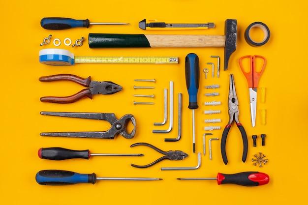 작업 도구 배열 구성, 평면도