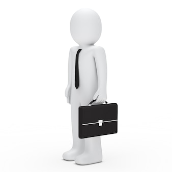 Работник, держа его портфель