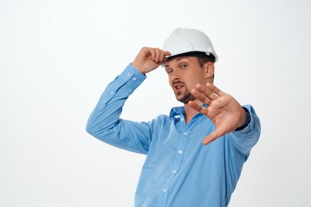 労働者男性エンジニア建設白いヘルメット