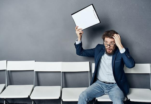 Работник-мужчина-менеджер резюме собеседования