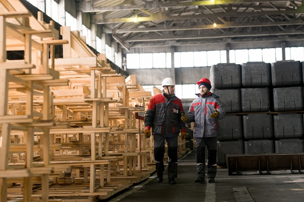 Workers in modern plant
