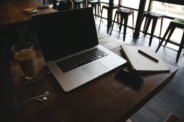 Working at the coffeeshop
