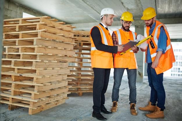 Рабочий день строителей