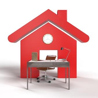 Концепция работы из домашнего пространства