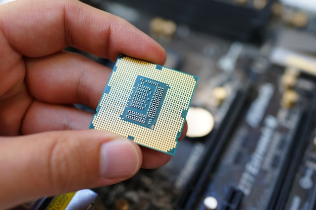 Working on the motherboard and pc processor