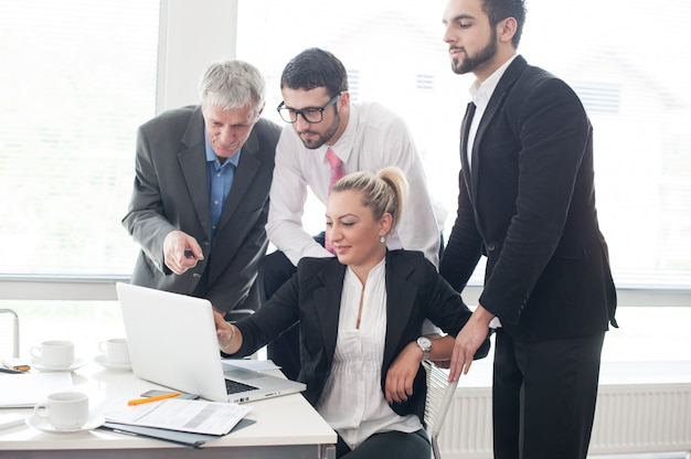 Working office for business people and executives