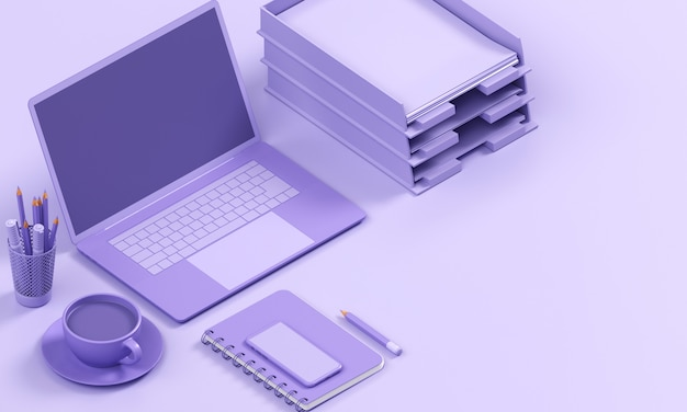Working space render mono colour background