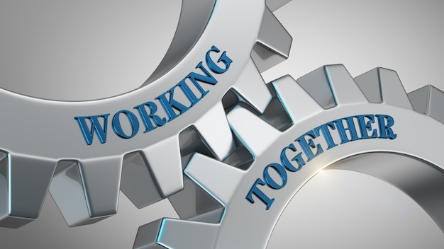 Working together concept