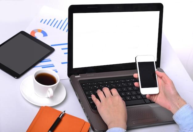 Lavorare con un computer portatile