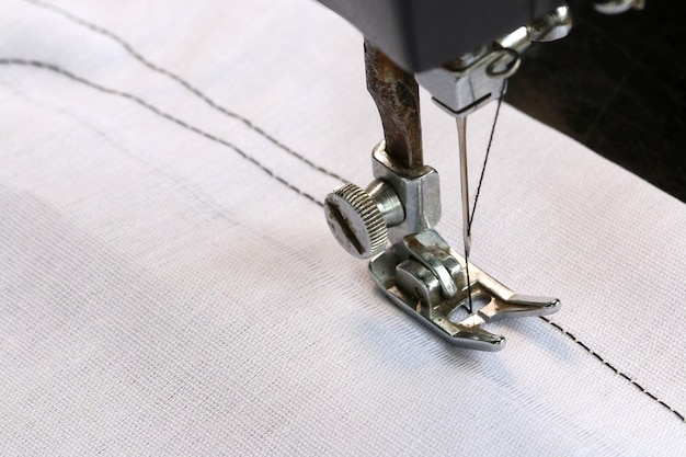 Working with sewing machine