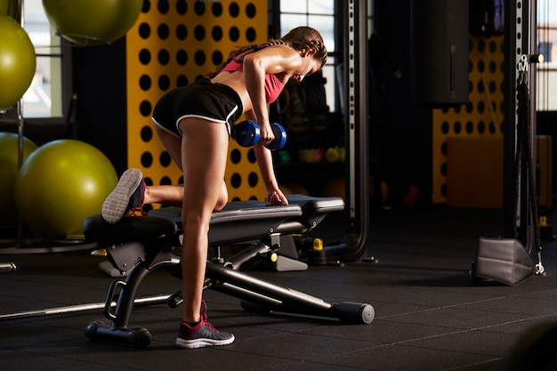 Workout at gym club