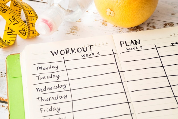 Workout plan template with modern style