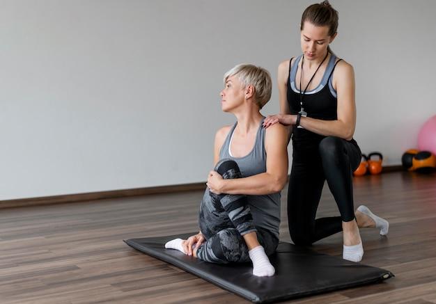Тренировка с копией пространства личного тренера