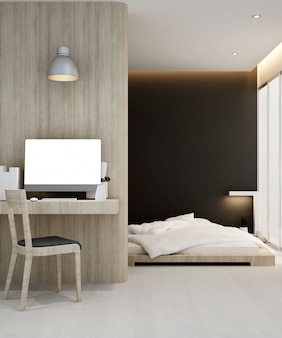 Workplace and bedroom  hotel or apartment , interior