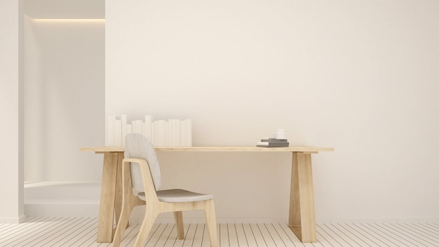 Workplace clean design in condominium or small office