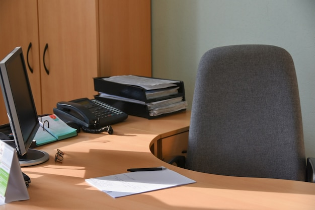 Workplace of an official in the office