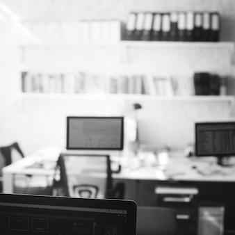 Рабочее место место работы концепция интерьера офиса