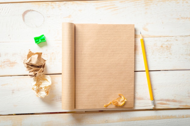 The workplace traveler, the blank notebook,