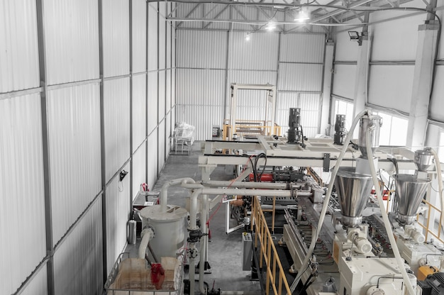 Workshop and equipment for the production of durable polyethylene and polypropylene for packaging