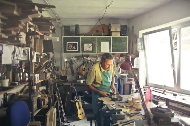 Workshop of musical instruments