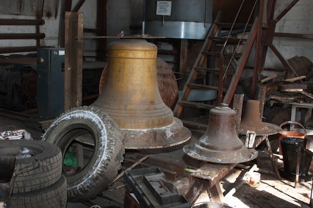 Workshop for the production of bells