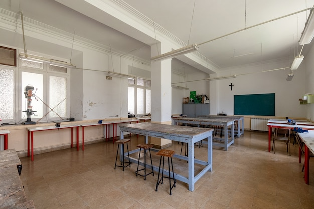 Workshop of a religious school