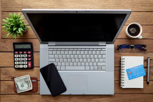 Workspace business wood desk