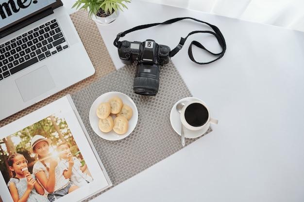 写真家のワークスペース