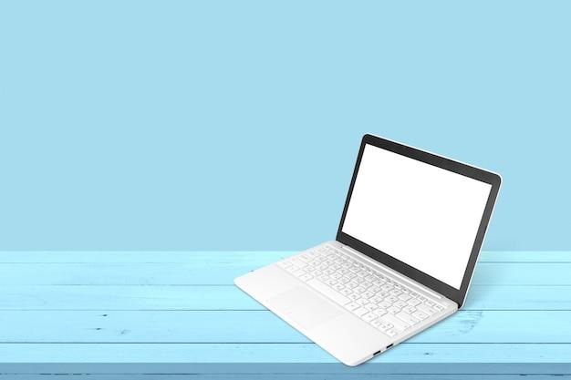 현대적인 노트북이 있는 작업 공간