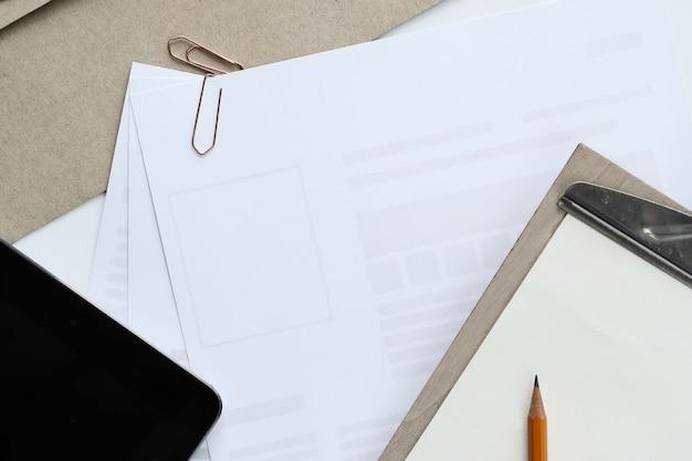 ワークスペース。職場とオフィスのテーブル