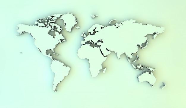 World 3d map