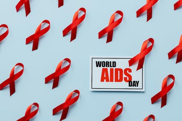 Disposizione del concetto di giornata mondiale dell'aids