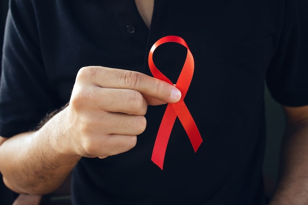 World aids day concept with ribbon
