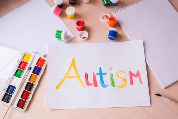 世界自閉症啓発デーのコンセプト。自閉症スペクトラム障害(asd)。