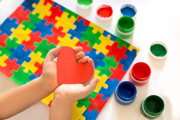 World autism awareness day concept.