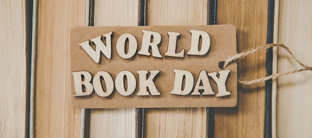 World book day. book background.