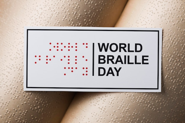 World braille day with book