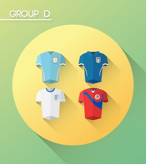 World cup group d vector with jerseys