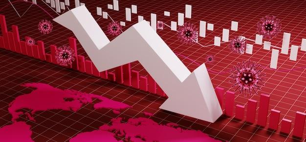 World economy and corona virus concept. the impact of coronavirus on the stock exchange.