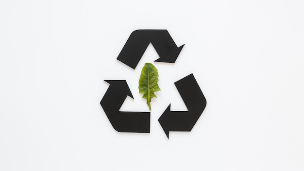 World environment day arrangement with recycling sign