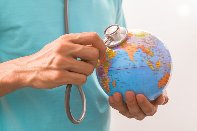 World health day, the concept of saving the world