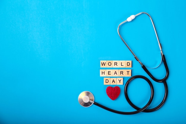 World heart day and red heart