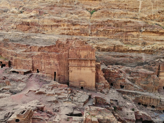 World heritage, the real pearl of all middle east - nabatian city petra. great historical place in jordan